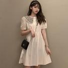 洋裝 娃娃領襯衫式連身裙-媚儷香檳-【D1792】