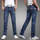 牛仔褲 夏季休閒直筒寬鬆大碼牛仔褲男士青年商務修身潮流潮牌薄款長褲子 3C優購