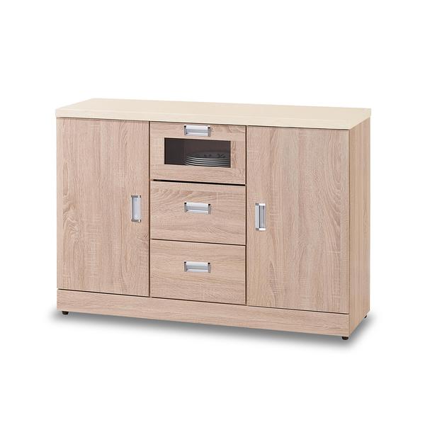 餐櫃【時尚屋】[G17]韋弗利原橡色4尺碗盤下櫃G17-A294-2免組裝/免運費/餐櫃