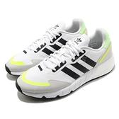 adidas 休閒鞋 ZX 1K Boost 白 黑 螢光黃 男鞋 愛迪達 三葉草 運動鞋 【ACS】 H69037