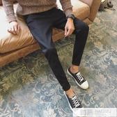 冬季褲子男牛仔褲休閒寬鬆直筒長褲加絨韓版潮流修身小腳男士 韓慕精品