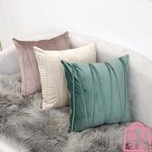 簡約素色抱枕靠墊沙發床上靠背墊腰枕頭套靠枕套【匯美優品】