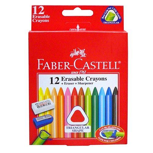 Faber-Castell三角擦擦蠟筆 12色 *122612