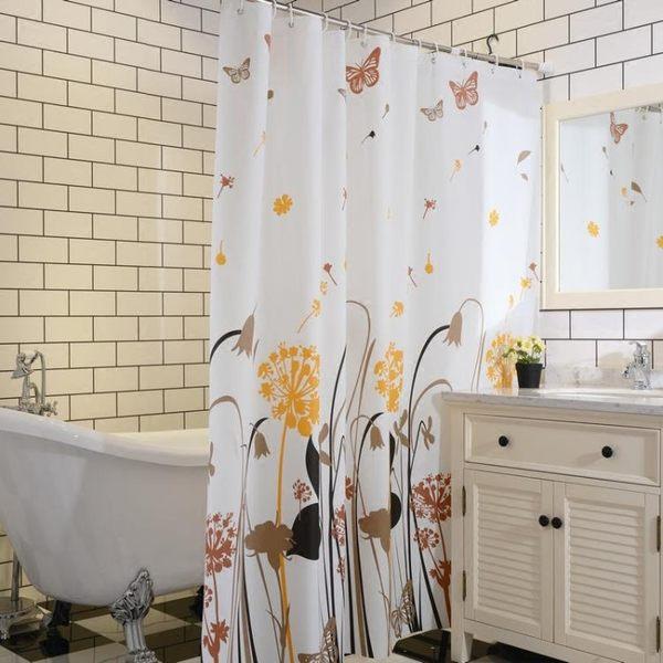 衛生洗澡間浴簾布浴室淋浴防水加厚防霉掛拉簾子宜家隔斷廁所窗簾MJBL