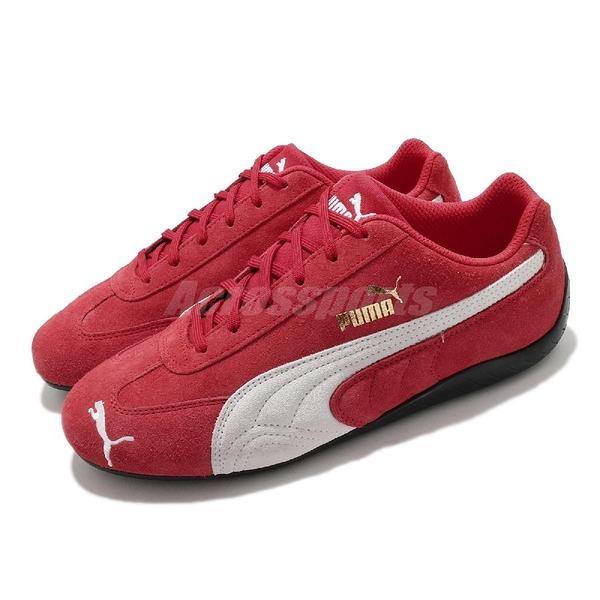 Puma 賽車鞋 Speedcat LS 紅 白 休閒鞋 男鞋 女鞋 金標 麂皮鞋面【ACS】 38017304