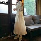 禮服 2021年新款春秋法式仙女初戀很仙長裙腳踝仙氣森系遮肚顯瘦洋裝