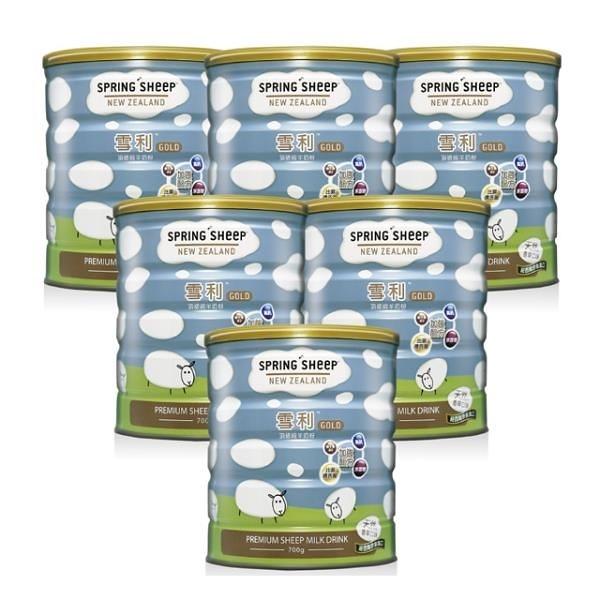 【南紡購物中心】【雪利GOLD】雪利GOLD頂級綿羊奶粉 香草口味 700g*6罐