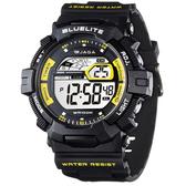 JAGA M979-AK G-SH系列 粗礦豪邁多功能電子錶-黑黃 (公司貨/保證防水可游泳)