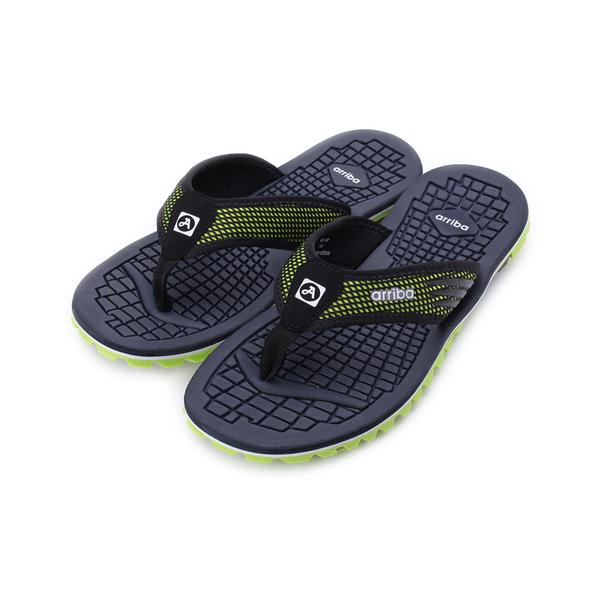 ARRIBA 雙色夾腳運動拖鞋 綠 男鞋 鞋全家福