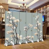 可定制屏風 隔斷 簡約辦公時尚客廳實木現代臥室移動折疊餐廳雙面布藝折屏
