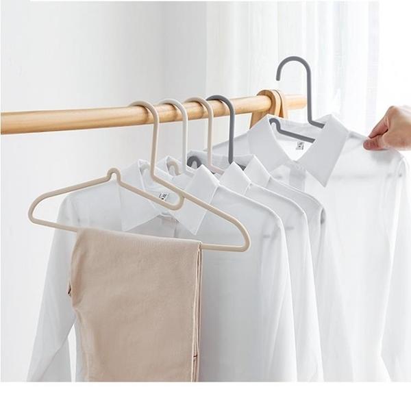 尺寸超過45公分請下宅配10只裝不傷領無痕衣架衣柜家用塑料成人多