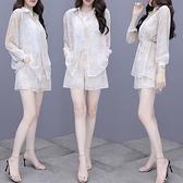 長袖防曬襯衫闊腿短褲兩件套網紅洋氣夏裝NA32-A 依品國際