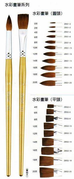 Pentel飛龍ZBS1-0 水彩畫筆-圓頭型