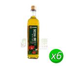 【米歐】 苦茶油(500ml/瓶)x6罐_嚴選100%初榨