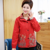 店長推薦 媽媽秋裝外套女短款夾克中老年秋季上衣薄40歲50中年婦女新款風衣