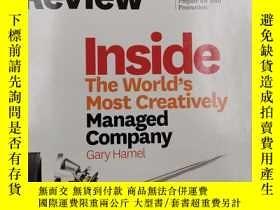 二手書博民逛書店harvard罕見business review inside the world s most creative