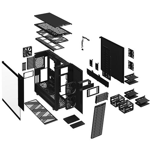 Fractal Design Define 7 XL Black 黑色 Dark Tempered Glass 強化玻璃側板 E-ATX 電腦機殼 FD-C-DEF7X-03