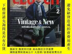 二手書博民逛書店日文原版雜誌罕見美式復古誌 CLUTCH 2019年2月號 Vintage & New【附英語副刊 men s f