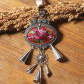 項錬 民族風復古個性裝飾配飾項錬吊墜古風飾品掛件毛衣錬玫瑰 辛瑞拉