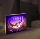 diy光影紙雕燈 星座diy3d立體手工材料包疊影台燈抖音剪紙雕刻燈 - 歐美韓熱銷
