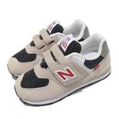 New Balance 休閒鞋 574 寬楦頭 小童 0-4歲 灰 紅 幼兒 矯正鞋 【ACS】 IV574SJ2W