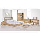 【森可家居】梅克爾5尺床組(全組) 7ZX140-2 雙人床臥室房間組 木紋質感 無印風 北歐風