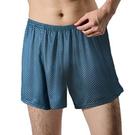 [Polar Star] (男) 格紋排汗快乾四角褲 深藍 (P14333-506)