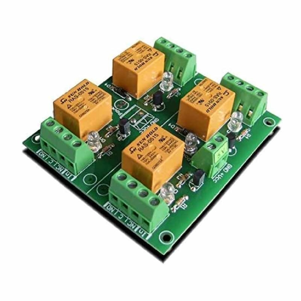 Denkovi 4 Channel 10A Relay Board 5VDC for Your Arduino or Raspberry PI, PIC, AVR, ARM [2美國直購]