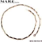 【MARE-純鈦項鍊】系列:磁石( 粗)玫金  款