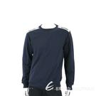 MOSCHINO 深藍色品牌字母織帶棉質大學T 運動衫(男/女可穿) 1940285-34