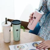 【BlueCat】環保小麥粒麥香雙蓋珍珠吸管杯/水杯/水壺(450ml)