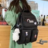 書包女大容量韓版背包後背包【邻家小鎮】