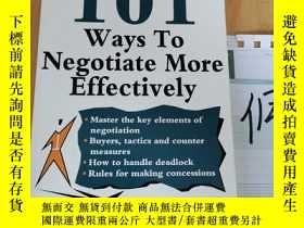 二手書博民逛書店101罕見Ways To Negotiate More EffectivelyY15335