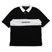KANGOL 黑白 撞色 拼接 刺繡LOGO 棉 POLO衫 男 (布魯克林) 6021130320