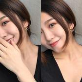 日韓國氣質簡約幾何耳洞耳夾個性耳飾女R178
