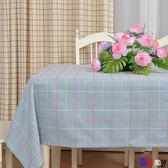 【Bbay】防油桌布 桌布 布藝 棉麻 長方形 格子 圓桌 方餐桌 蓋布巾