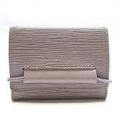LOUIS VUITTON 路易威登 紫色EPI水波紋牛皮三折零錢包短夾 M6366C【BRAND OFF】