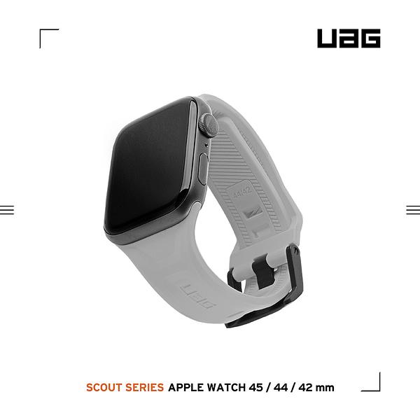 UAG Apple Watch 42/44/45mm 潮流矽膠錶帶-灰