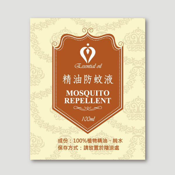 【香草工房】防蚊液貼紙-皇家盾牌20張/包
