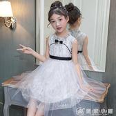 夏季女童蝴蝶結公主裙純白色公主紗裙洋裝110-160碼1118 優家小鋪