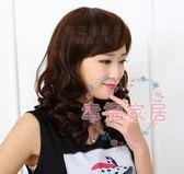 假髮套女短髮中年女式燙卷中長髮長卷髮中老年假髮斜劉海媽媽假髮