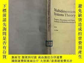 二手書博民逛書店Multidimensional罕見System Theory