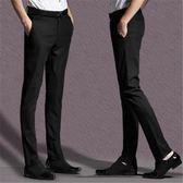 夏季男士修身小腳黑色商務休閑職業正裝薄款免燙西裝褲 QQ327『優童屋』