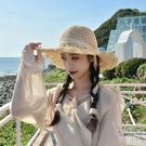 草帽女士小清新夏季旅游度假海邊沙灘太陽防曬遮陽大檐帽 快速出貨