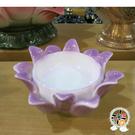 精緻紫瓷蓮座(智慧 貴人相助) + 平安加持小佛卡【十方佛教文物】
