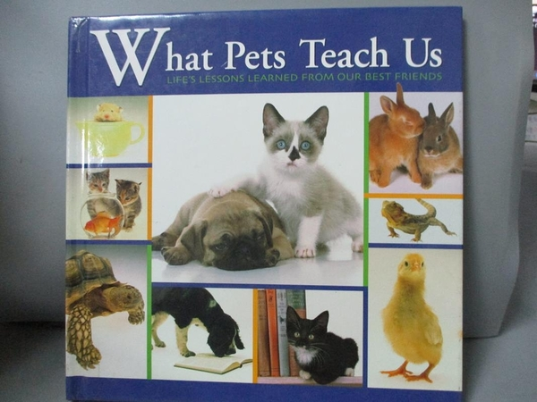 【書寶二手書T7/寵物_GEY】What Pets Teach Us_Andrea (Editor) Donner