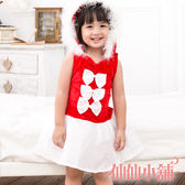 甜蜜童話蝴蝶結紅色耶誕服 小朋友角色扮演服聖誕節仙仙小舖