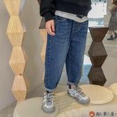 男童牛仔褲春秋款直筒兒童長褲薄款外穿【淘夢屋】
