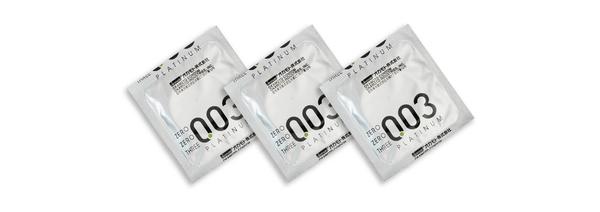 Okamoto岡本衛生套-003白金3入