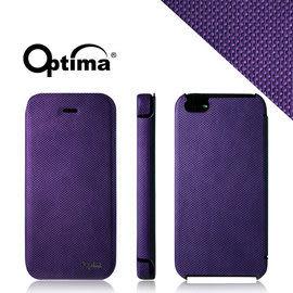 【漢博商城】Optima iPhone 5/5S 義大利針織系列側掀保護套 - 紫